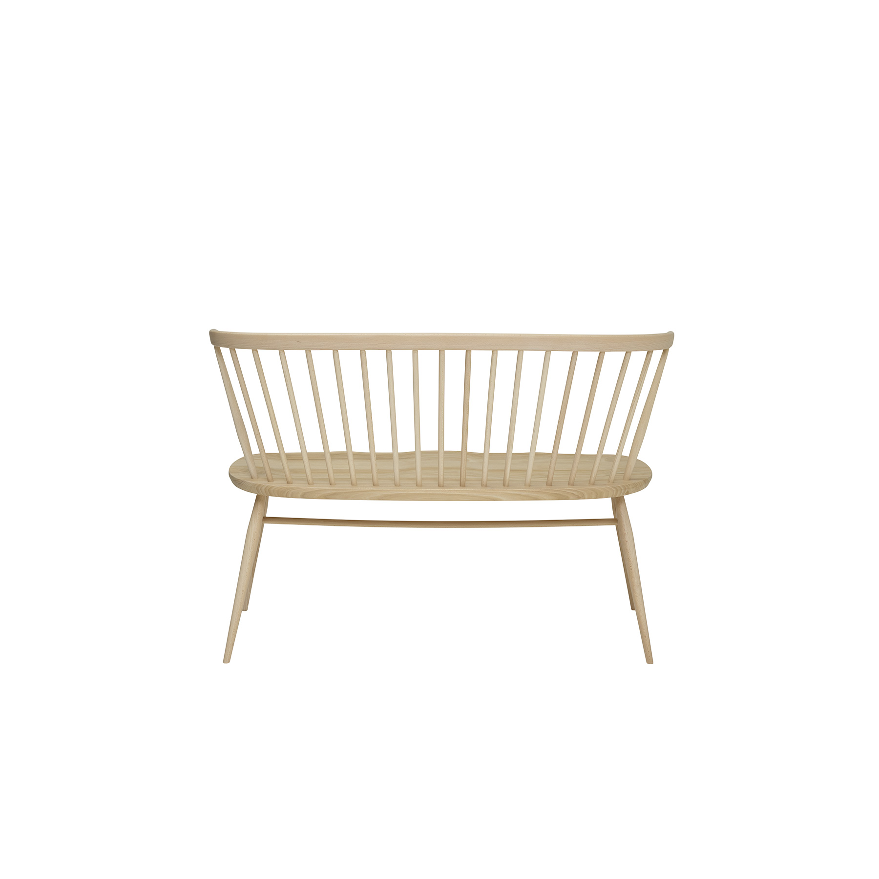 Originals Love Seat - <p>The Ercol Originals are pieces of timeless and classic design that never date or show their age. It is furniture that is as relevant and as functional now as it was when it was created in the 1950s and 1960s. This furniture was designed by Ercol's founder, Lucian Ercolani, who drew for his inspiration on the time-proven local design and craft in the Chiltern Hills around where he lived and built his first factory in 1920 in High Wycombe. Using the strength of beech and the beauty of elm he carried this definition on into a huge variety of dining, kitchen, and school chairs and then extended the idiom into the low easy chair range epitomised by the 206 armchair and the studio couch. The beauty of the colour and the grain of the elm took Lucian on to use elm for the tables and cabinets of the Originals and the following Windsor range. As a progression of the Windsor chair, this love seat offers a large, outward shaped ash seat, moulded for comfort. The bent solid ash chair bow is an attractive and unique shape, reminiscent of its Windsor heritage. Turned lists that structure the back of this seat for two and tapered legs give this piece a distinctive Ercol feel. Coupled with the plank table or used as a standalone piece, this unique love seat will be the focus of your living space. This love seat will be finished in your choice of a variety lacquer finishes or in your choice of a selection of painted colour finishes, which protects the timber as well as fitting in with your style and decor. Otherwise, opt for a graded colour finish to create a contemporary edge to your home. To celebrate our 100th anniversary the love seat, designed by Ercol's founder, Lucian Ercolani, will feature an exclusive centenary logo during our anniversary year 2020.</p>  | Matter of Stuff