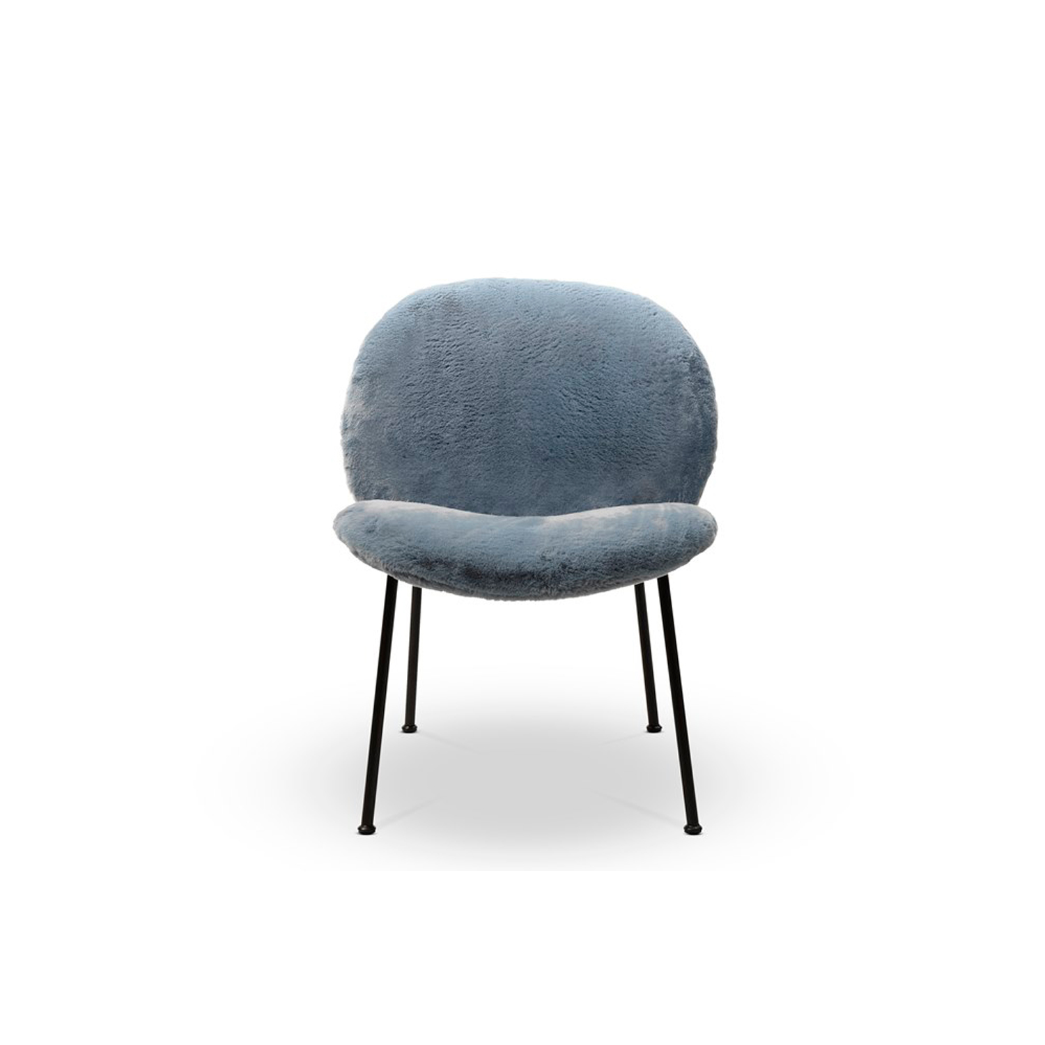Ola Easy Chair - Ola originates from a simple idea but at the same time represents a complex concept – a welcoming arm chair created utilising four individual curved sheets. Each sheet converges towards a single centre. Four sheets become two sheets for the variation without arm rests. The 18 mm diameter metal frame has an essential and graphic silhouette in contrast with the padded rounded forms. The cover is completely removable.  Additional removable cover is available, please enquire for prices.  Materials Structure in plywood curved birch with polyurethane foam covered with polyester fiber 100 gr/sqm. Feet in 18 mm of diameter painted or chromed iron. Seating is made with variable-density polyurethane foam and covered with polyester fiber 100 gr/sqm. Backrest and armrests are made in polyurethane foam and covered with polyester fiber 100 gr/sqm. | Matter of Stuff