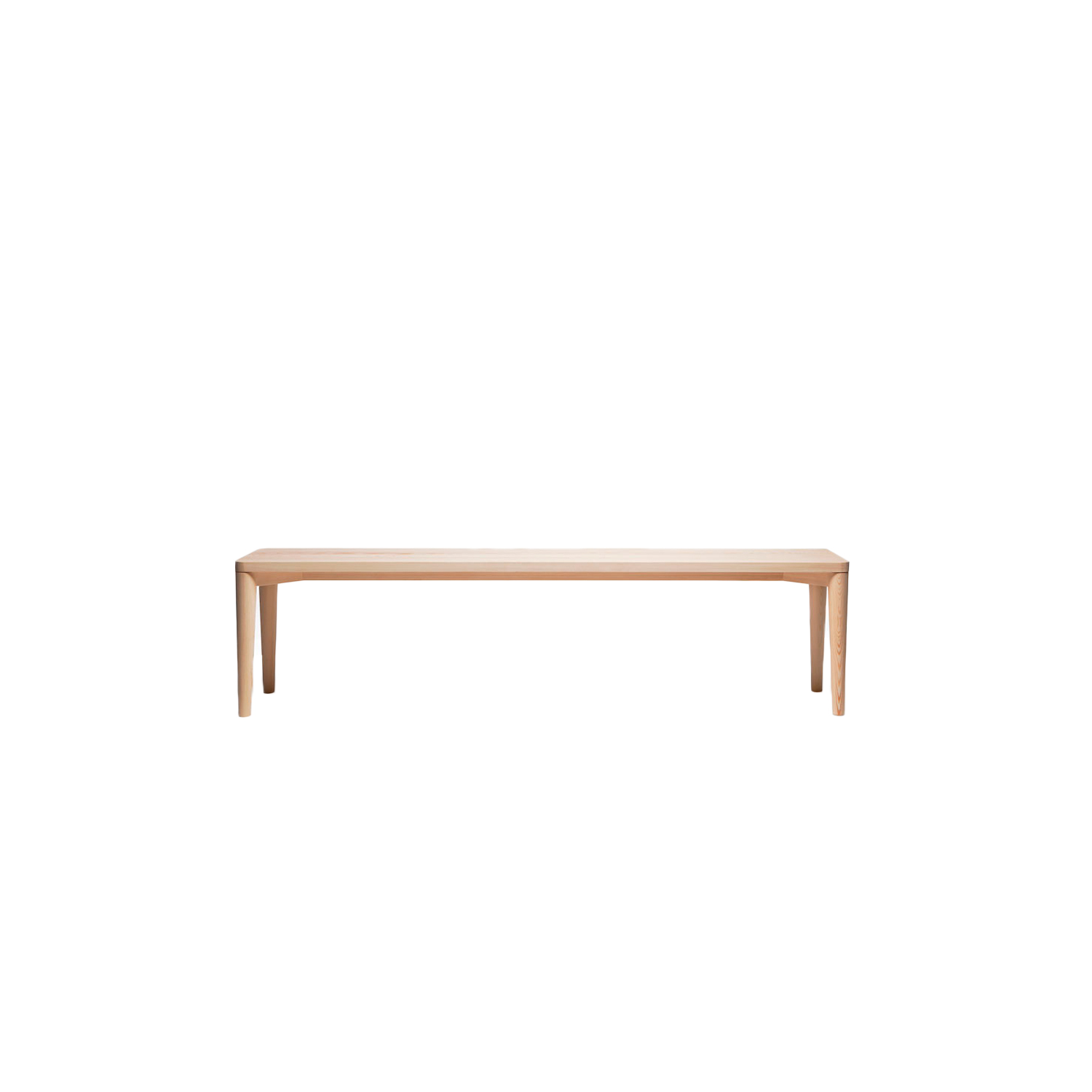 January Bench - The simple, understated forms of the January bench bring out the beautiful, unique solid wooden surface. January bench is available in ash with an oiled finish. Nikari's wooden furniture is treated with natural surface treatment materials, such as natural wood oil mixture.   | Matter of Stuff